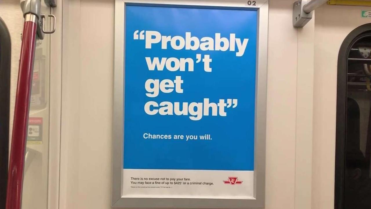 Advocates say TTC ad campaign is un'fare'