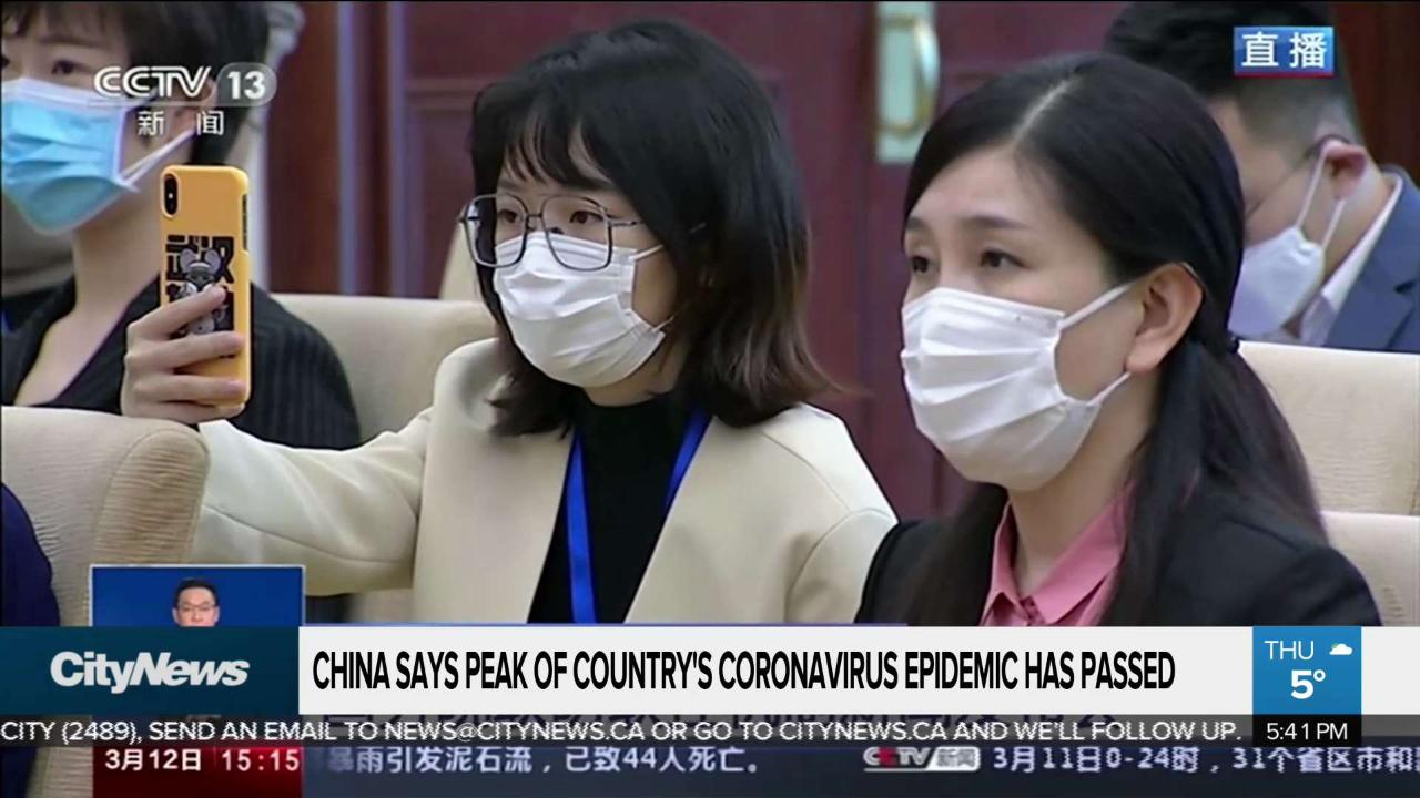 Image result for china says covid 19 peak is over