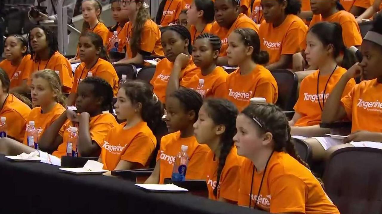 50 girls 'Train Like a Raptor' alongside WNBA champ