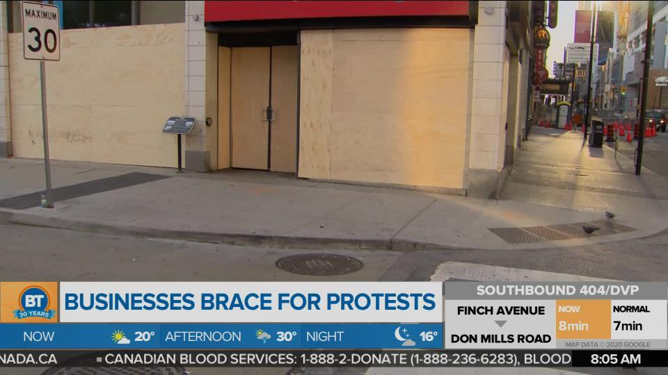 Downtown businesses board up storefronts ahead of protests