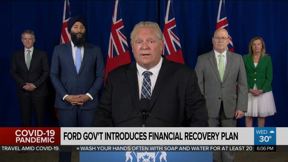Ford government introduces financial recovery legislation - CityNews Toronto
