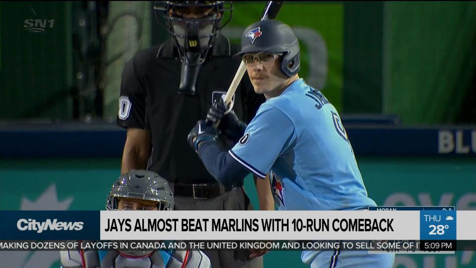 Jays almost beat Marlins with 10-run comeback - CityNews Toronto